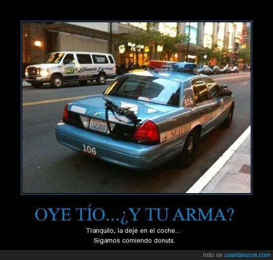 calle,coche,fail,Homer Simpson,policia,rifle,Seattle