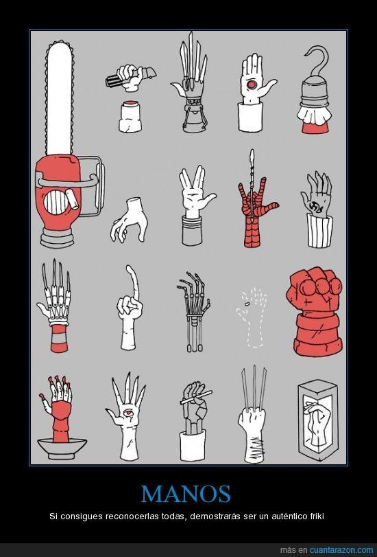 friki,geek,hand,mano,personajes