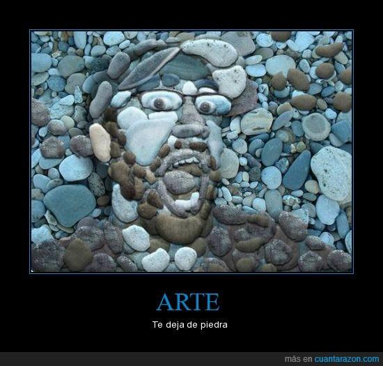 arte,cara,piedras