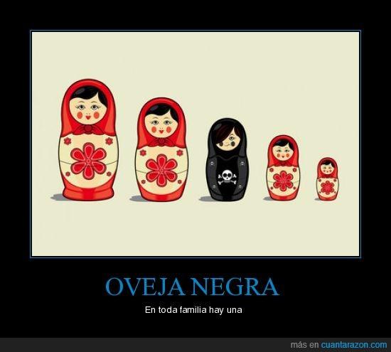 humor,muñecas rusas,oveja negra