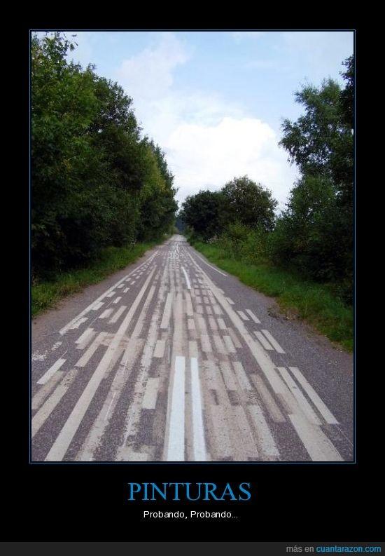 Carretera,lineas,pinturas