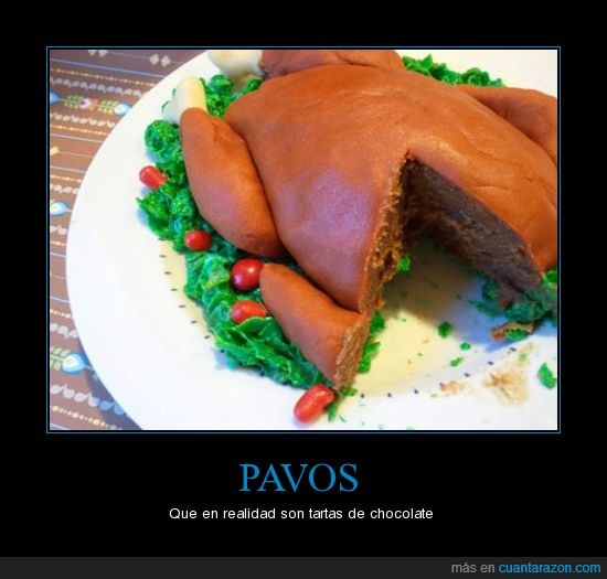 chocolate,curioso,pavos,pollo,postre,tarta