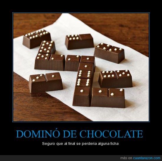 alimento,chocolate,dominó,postre