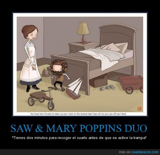 duo,educación,mary poppins,peliculas,saw