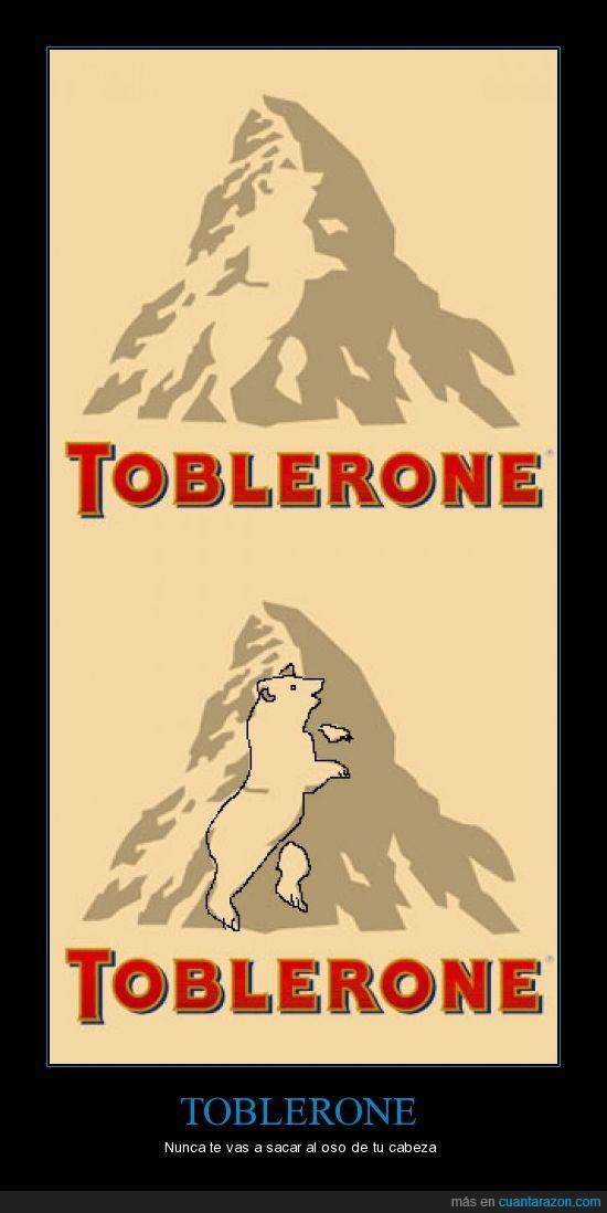 montaña,oso,toblerone