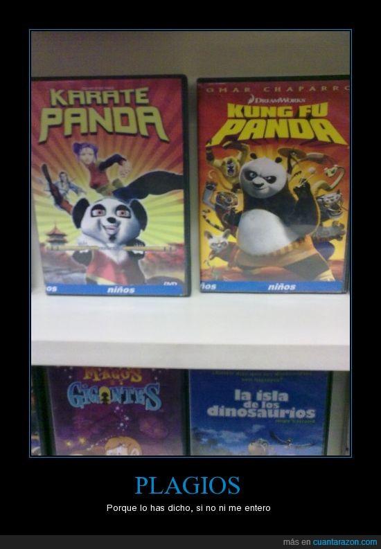 Karate panda,Kung fu panda,plagios