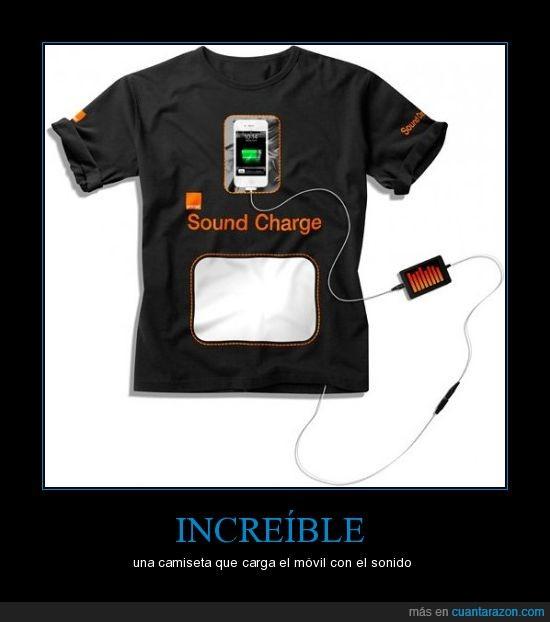 camiseta,móvil,sonido