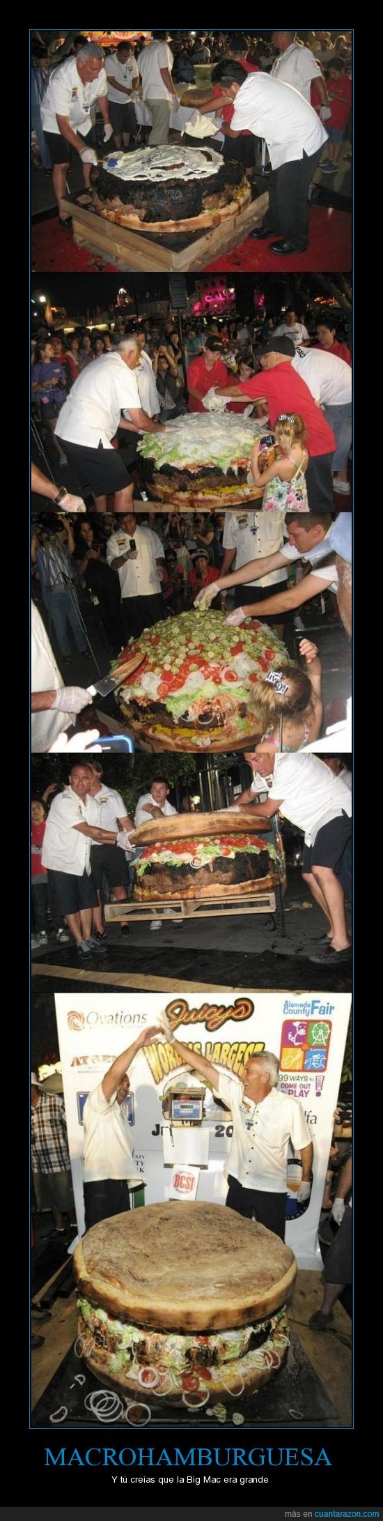 calorías,gigante,hamburguesa,record Guinness