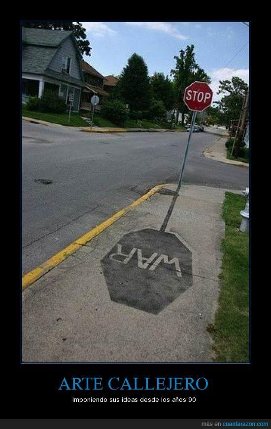 arte,callejero,guerra,señal,stop,war