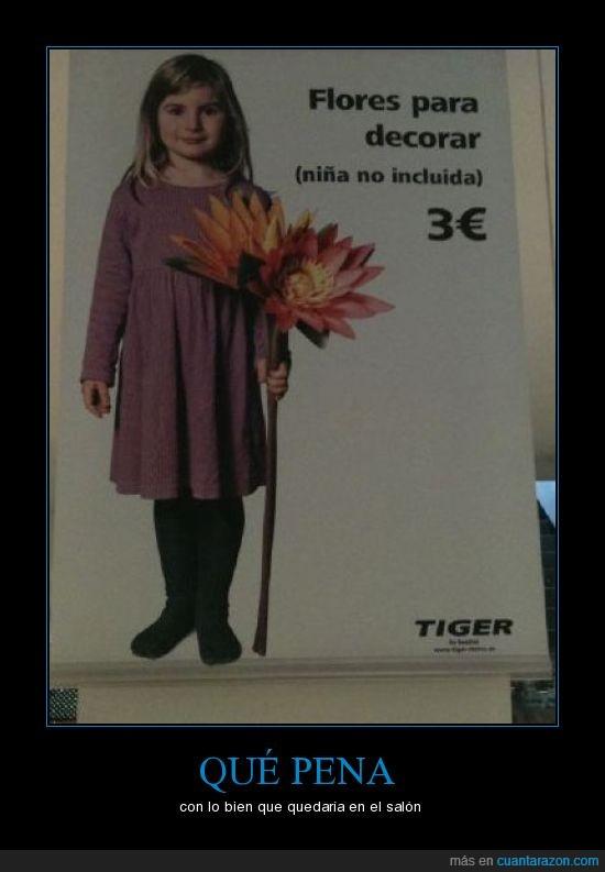 flores,niña en venta