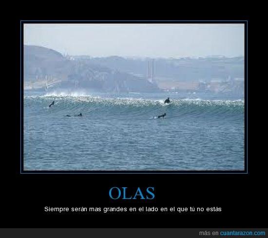 Grandes,Mar,Olas,Playa