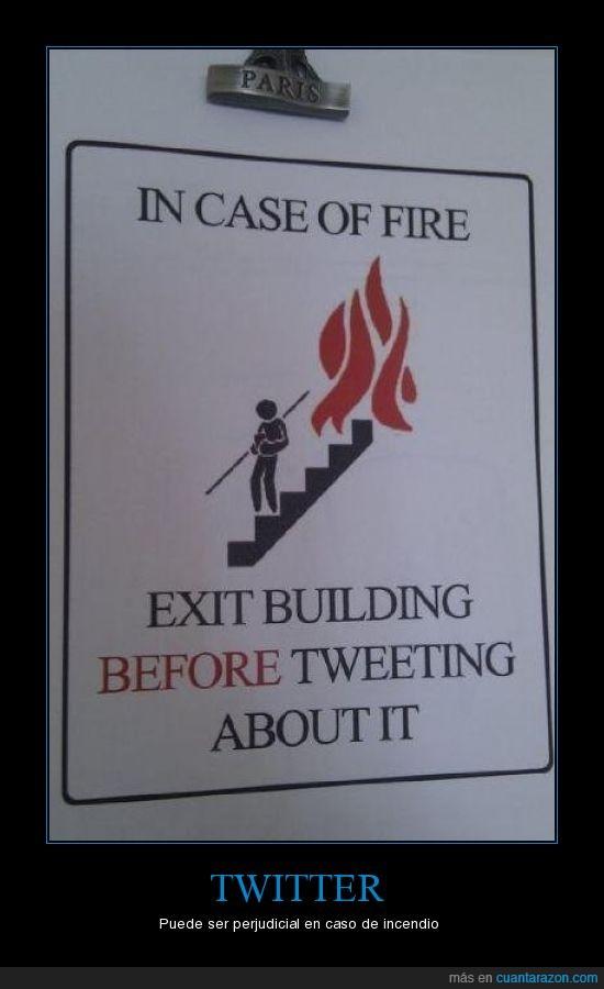 edificio,escaleras,fuego,incendio,tweet,twitter