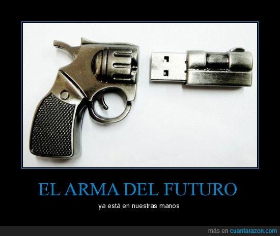 fail,futuro,manos,pendrive,revolver