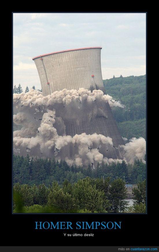 Central nuclear,derrumbe,fusión,los simpsons,nucleo