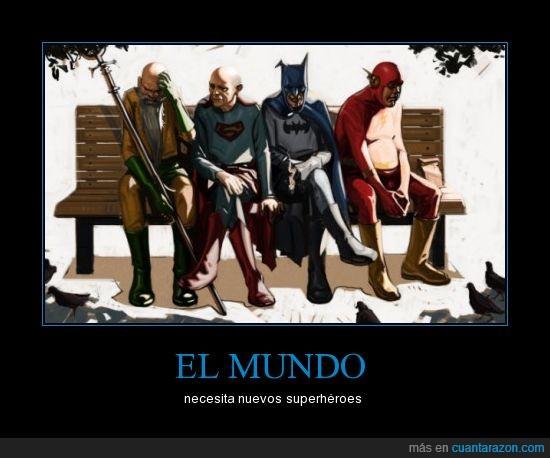 héroes,mundo,superhéroes,viejos