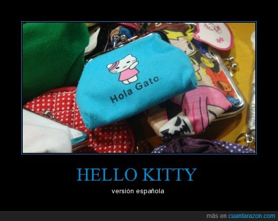 gato,hello kitty,hola,imitación,monedero