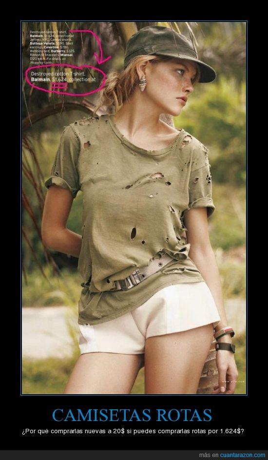 agujeros,barata,Camiseta,cara