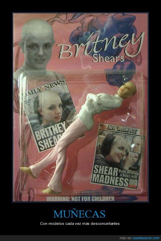 afeitar,britney,calva,juguete,miedo,muñeca,spears