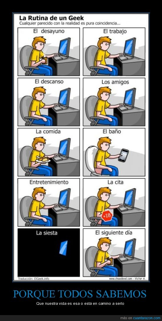 geek,iphone,pc,realidad,rutina