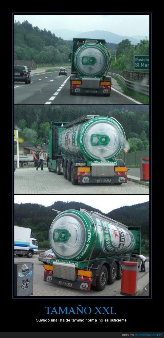 Cerveza,gasolinera,heineken,publicidad,tamaño,XXL
