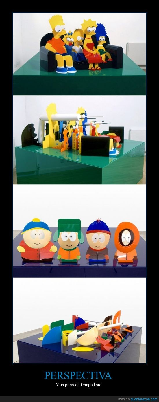 perspectiva,simpsons,south park