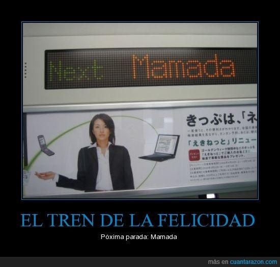 felicidad,metro,parada,tren