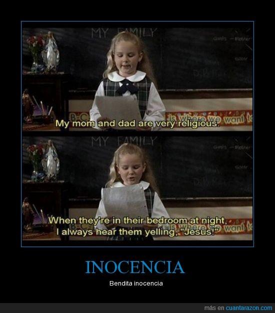 inocencia,jesus,mamá y papá,niña pequeña