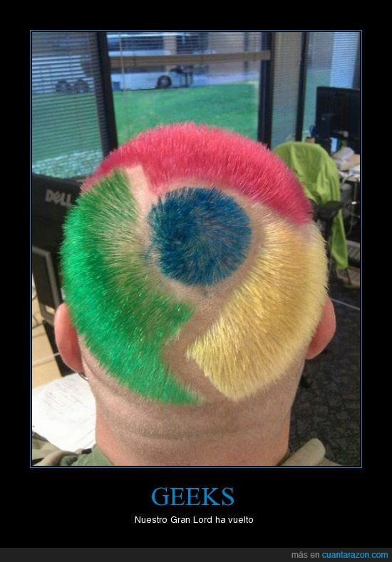 geek,google chrome,lor,pelo,peluquería,teñir