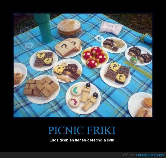 comida,friki,mario,picnic