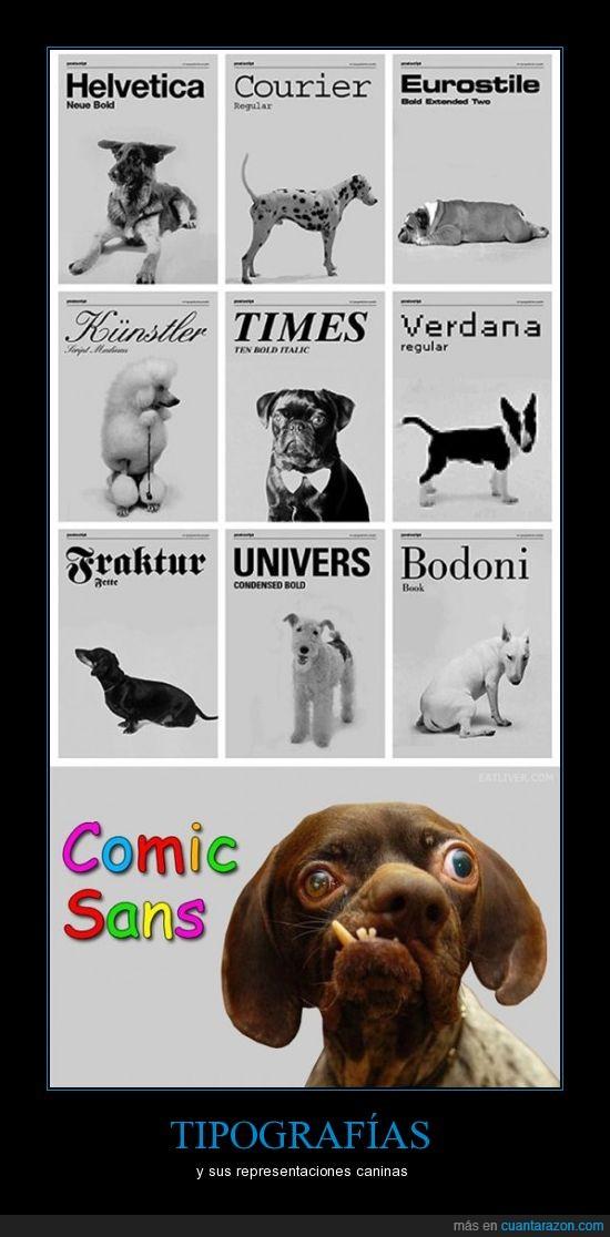 comic sans,perros,tipografías