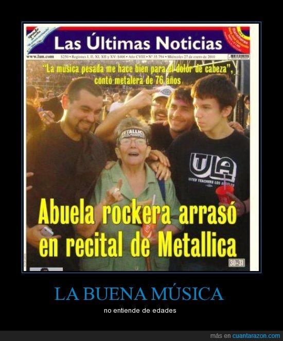 abuela,metallica,noticias,rockera