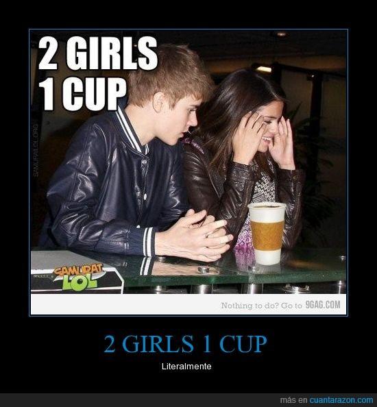 1 cup,2 girls,bieber,gomez,justin,selena