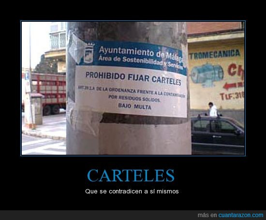 carteles,fijar,prohibido