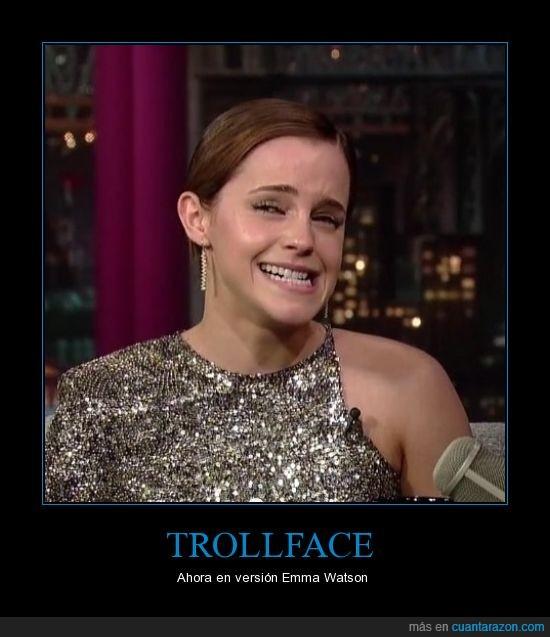 emma watson,trollface