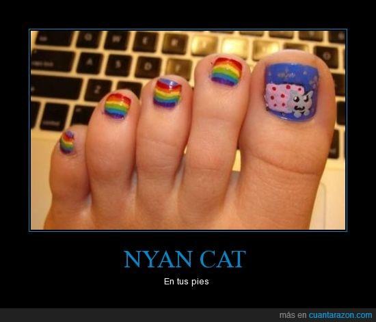 nyan cat,uñas