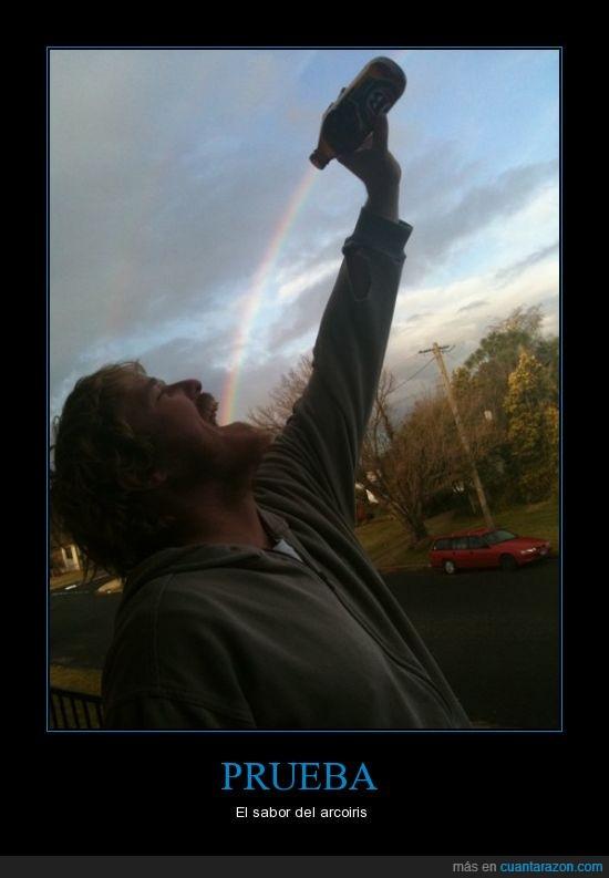 arcoiris,botella