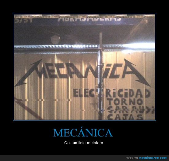 Mecanica,Metal,Metallica