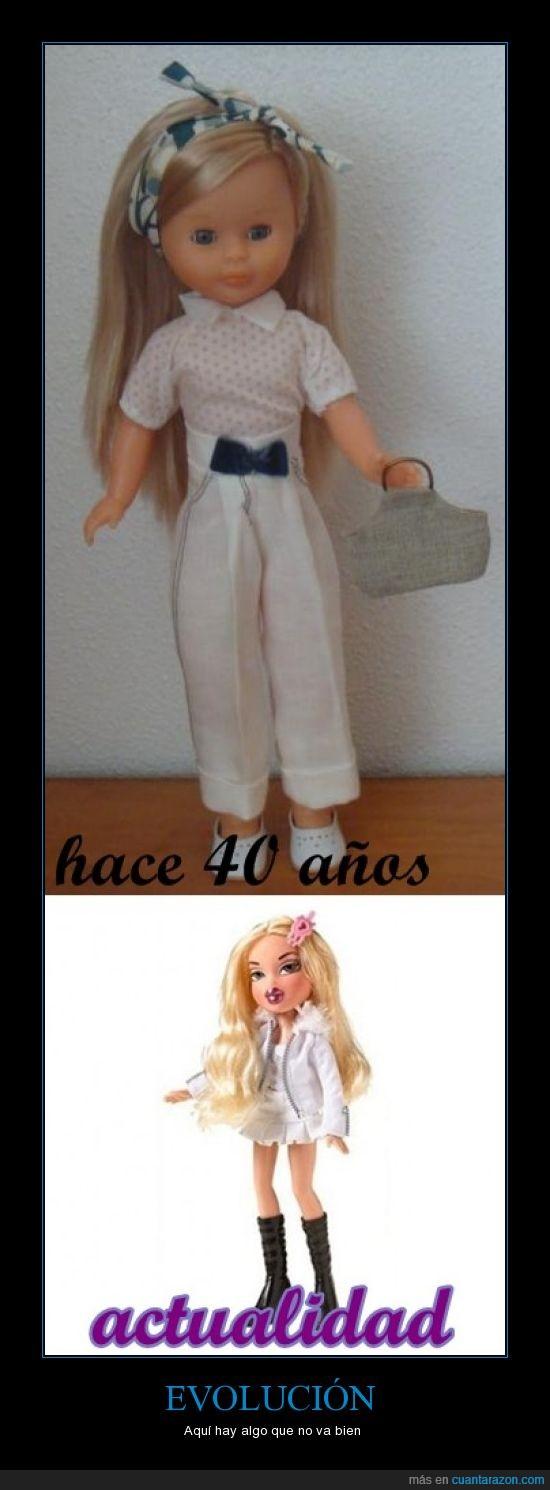 barbie,evolución,muñecas