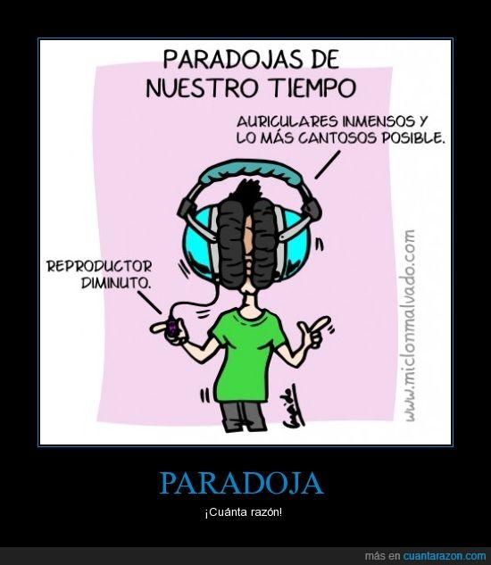 auriculares,cuanta razon,paradoja,reproductor