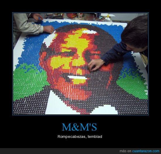 m&m,rompecabezas