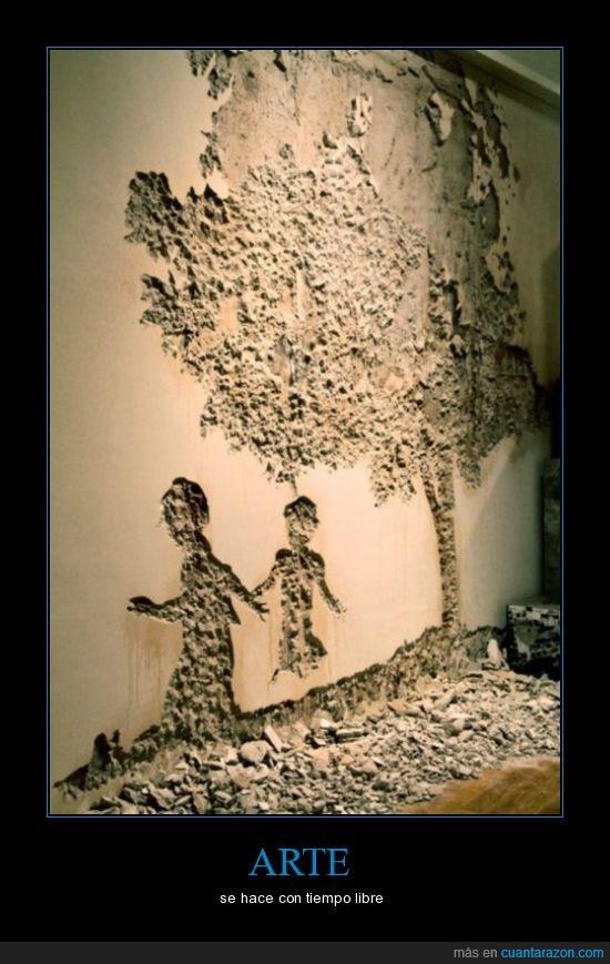 arte,escombros,pared