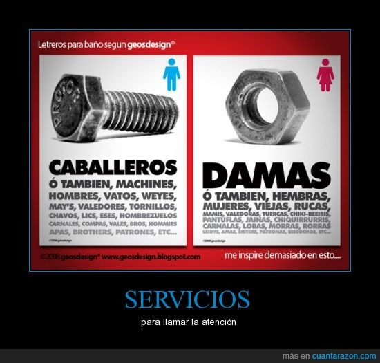caballeros,damas,servicio
