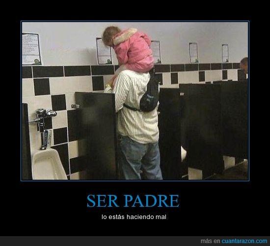 baño,hombres,niña,padre