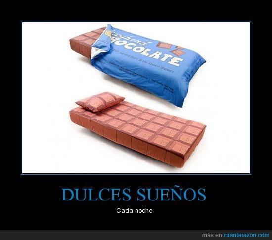 cama,chocolate,objeto