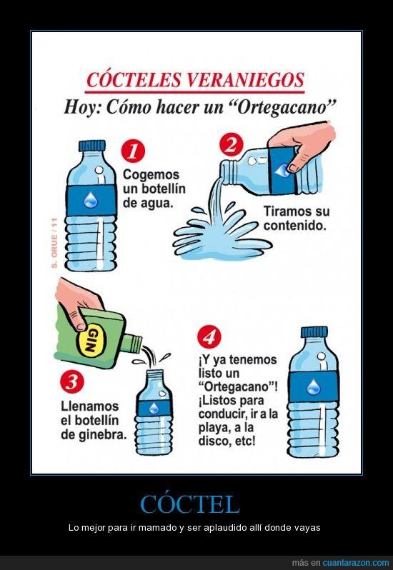 agua,cóctel,cóctel ortegacano,cócteles veraniegos,ginebra,Ortega Cano