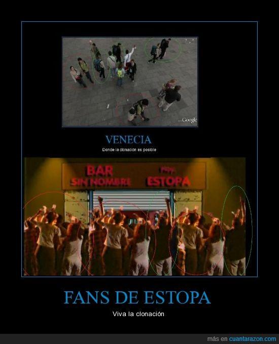 bar,clones,concierto,Estopa,fans,venecia