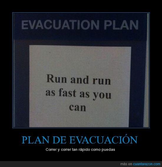 correr,evacuación,plan,rapido