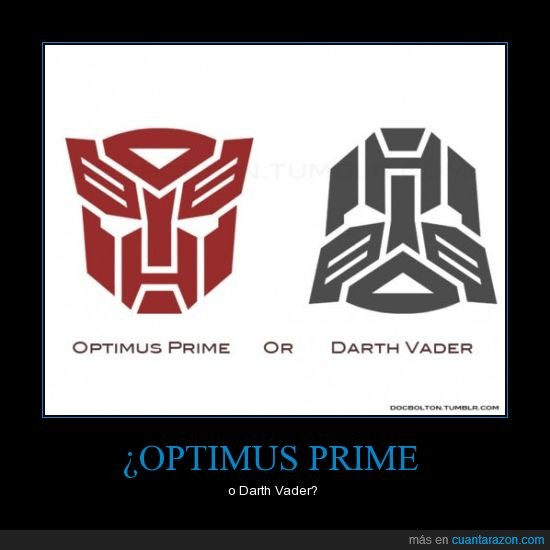 darth vader,optimus price,star wars,transformers