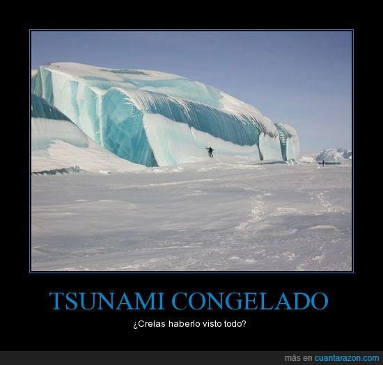 antartica,congelado,tsunami
