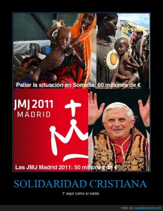 cristiana,dinero,hambre,juventud,madrid,papa,religión,visita